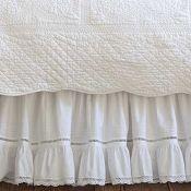 Taylor Linens Prairie Crochet Bed Skirt Ships Free