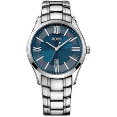 HUGO BOSS Men's Watches 1513034. Display Type : Analogue. Water-restistant (bar) : 3. Diameter (without crown) in mm/inches : 43 / 1,69. Weight in g/ounces : 138 / 4,87.