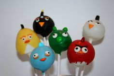 Hey, I found this really awesome Etsy listing at https://www.etsy.com/listing/154982364/angry-birds-cake-pops