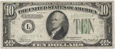 10 Dollars 1934A (Hamilton)