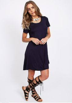 Slow Down T-Shirt Dress - Under $50 - Dresses - Clothing | ThreadSence