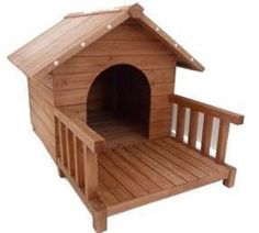 Dog Kennel with Deck