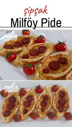 Instant Breakfast Puff Pastry Pita (with Cheese and Sausage) - Delicious Recipes Breakfast Puff Pastry, Turkish Breakfast, Best Breakfast Recipes, Breakfast For Kids, Sausage Recipes, Cooking Recipes, Cheddar, Turkish Pizza, Pizza Pastry