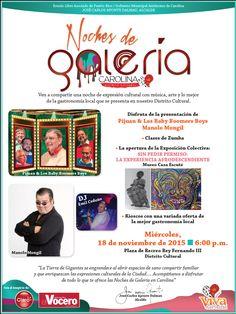 Noches de Galería @ Carolina #sondeaquipr #nochesdegaleria #carolina #turismointerno #plazareyfernandoIII