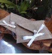 Burlap Envelope Pouches 6x4 $2.99 each / 10 for $2.50 each  @Marcie Struble