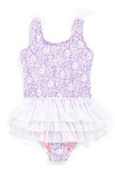 Hula Star 'Sugar Plum' One-Piece Swimsuit (Toddler Girls & Little Girls)