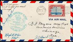 Earhart, Amelia - Signed Cover Commemorating the First Amphibian Flight, 1929