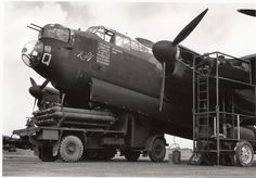 Veteran Avro Lancaster 'Edith' ops to this point) having her oxygen tanks topped up. Navy Aircraft, Aircraft Photos, Ww2 Aircraft, Military Jets, Military Aircraft, Aviation Image, Aviation Art, Lancaster Bomber, Ww2 Pictures