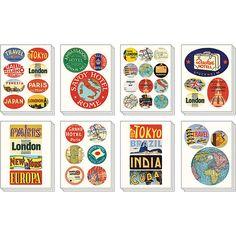 Vintage Reiseziel-Sticker