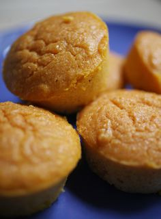 """Pumpkin cornbread muffins from The Pit in Raleigh. I use Jiffy Cornbread mix (2 little blue boxes) OR a 15oz box of Trader Joe's corn bread mix, and bake in a large cast iron greased preheated 12"""" skillet for 45-50 mins."""