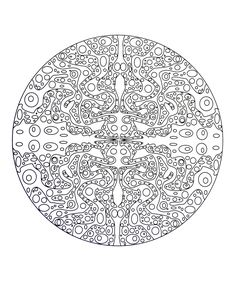 Free coloring page free-mandala-to-color-aqua. Aquatic mandala