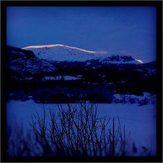 Sunset in hemsedal Norway