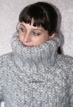 3 kg Turtleneck sweater chunky knit merino sheep wool thick knit sweater heavy wool jumper for men hand knitted by Strickolino Turtleneck Outfit, Sweater Outfits, Thick Sweaters, Wool Sweaters, Dik Dik, Extreme Knitting, Chunky Knitwear, Mohair Sweater, Turtle Neck