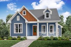 Traditional Style House Plan - 3 Beds 2.5 Baths 2155 Sq/Ft Plan #430-145 Exterior - Front Elevation - Houseplans.com