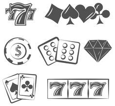 Poker set svg casino, playing cards and chips element vector illustration g Poker Tattoo, 1 Tattoo, Dice Tattoo, Playing Card Tattoos, Playing Cards, Tattoo Sketches, Tattoo Drawings, Art Drawings, Casino Tattoo