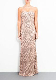 CELINE - Long Gold Sequin Dress
