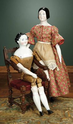 """For the Love of the Ladies"" - October 1-2, 2016 in Phoenix, AZ: 149 German Porcelain Doll as Young Lad with Rare Carved Wooden Body"