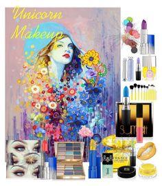 """Unicorn Makeup"" by rosalindmarshall ❤ liked on Polyvore featuring Versace, Surratt, MAC Cosmetics, Estée Lauder, Givenchy, Bliss & Grace, Nails Inc., Stila, Christian Dior and Le Métier de Beauté"