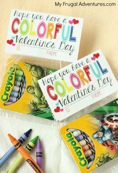 Free Printable Crayon Valentine