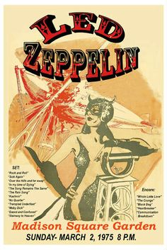 Robert Plant, Jimmy Page Led Zeppelin at Madison Square Garden Tour Poster 1975 Robert Plant, Tour Posters, Band Posters, Music Posters, Vintage Concert Posters, Vintage Posters, Madison Square Garden Concert, Led Zeppelin Concert, Pochette Album