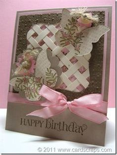 Cute & Curly verses, Butterfly Bigz die, Top Note die-frame, woven paper strips