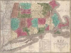 Map of Massachusetts, Connecticut and Rhode Island constructed from the latest authorities.    Brown & Parson. 1838.  Boldly colored engraved pocket map of southern New England, folding into 16mo sheepskin covers. Professionally backed with slight losses at folds. With inset statistical table.