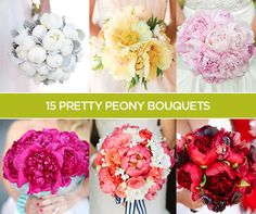 Is it a coincidence that peony and wedding season overlap?! Here are 15 pretty peony bouquets for a romantic wedding! #DTTSWedding #MeanttobeMonday