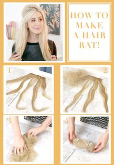 How to make a hair rat volumizing hair tool ♥