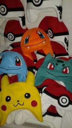 Pokémon fleece hats
