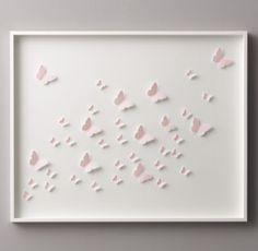 Hand-Folded Paper Butterfly Art