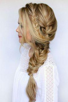 awesome Элегантная прическа коса на бок (50 фото) — Разнообразие вариантов Читай больше http://avrorra.com/pricheska-kosa-na-bok-foto/