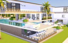 Via Sims: House 65 - Celebrity Home Via Sims: House 65 - Celebrity Home,Sim House 65 - Celebrity Home - Via Sims couples drawings houses style weddings Sims 4 Modern House, Sims 4 House Design, Dream Home Design, Sims 4 House Plans, House Layout Plans, House Layouts, Celebrity Mansions, Celebrity Houses, Sims 4 Loft