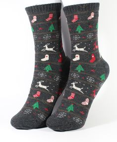 Women's Cute Christmass Theme Socks 3 Color Selection