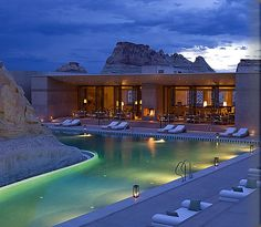 Amangiri Resort, Utah pools.  Who says Utah isn't beautiful?!?!