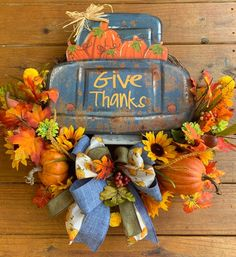 Excited to share this item from my shop: Fall decor, Vintage truck wreath, Fall Wreath, Thanksgiving Wreath Easy Fall Wreaths, Thanksgiving Wreaths, Holiday Wreaths, Wreath Fall, Diy Wreath, Grapevine Wreath, Burlap Wreaths, Wreath Ideas, Door Wreaths
