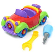 Hot Sale Christmas Gift Kids Baby Boys Girls Disassembly Assembly Classic Car Toys Tops
