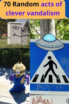 Even though there are those types of negative instances of #vandalism that happen all the time – there are actually some pretty clever ones out there too that really…aren't so bad. These 70 #vandals were thinking outside the box when they took to the streets. Should this type of vandalism be #illegal? You be the judge.