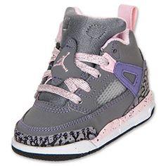 Girls' Toddler Jordan Spizike....Cool Grey/Liquid Pink/Purple Earth