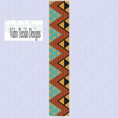 Africa Peyote Pattern by vidrotecido on Etsy, $2.00