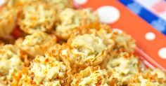 Artichoke Parmesan Bites - only 5 ingredients! Can make ahead of time and refrigerate or freeze for later. Great for parties! We could not stop eating these. YUM!