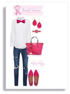 """""""# think pink"""" by hinson-hunny ❤ liked on Polyvore featuring Equipment, Carvela Kurt Geiger, Jigsaw, Kate Spade and H&M"""