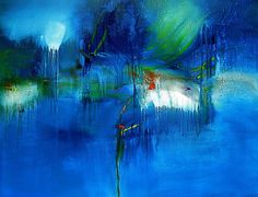 Blue Rain by stricher gerard, luv this bright blue modern impressionist painting...