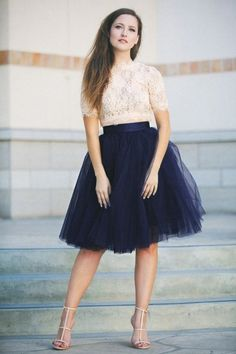 Little Mistress Navy Tulle Skirt 122 31 19480 20160823 0007W