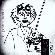 InkTober #21: Back To The Future Day!!! @mrchristopherlloyd as Doc Emmett Brown #inktober #inktoberchallenge #illustration #drawing #backtothefuture #backtothefutureday #ChristopherLloyd #DocEmmettBrown #drawing #inkdrawing #ink #challenge #movies #eighties #cultmovie https://www.facebook.com/diegocelmailustrador