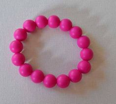 Items similar to Bright Pink Beaded BPA Free Teething Bracelet. Normally 12 dollars now 8 on Etsy Teething Bracelet, Bright Pink, Trending Outfits, Unique Jewelry, Bracelets, Handmade Gifts, Free, Etsy, Products