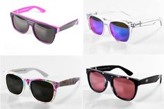 80's sunglasses ... had a pair like the one on the top right in clear and purple <3