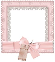 Cute Pink Transparent Photo Frame