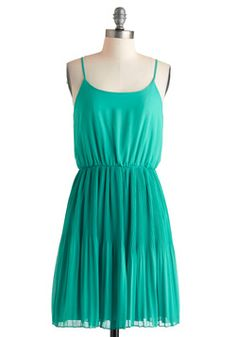 This would be a great bridesmaid dress :) Teal the Spotlight Dress, #ModCloth