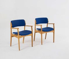 Large Set of Danish Dining Chairs by Erik Buck, 1950s | From a unique collection of antique and modern dining room chairs at https://www.1stdibs.com/furniture/seating/dining-room-chairs/
