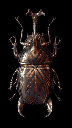 Is it copper or brass. But it's nice af Cool Insects, Bugs And Insects, Insect Jewelry, Jewelry Art, Carapace, Bug Art, Insect Art, Beautiful Bugs, Beetles
